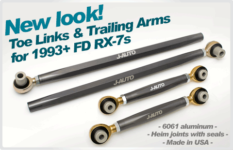 J-AUTO toe links and trailing arms FD RX-7
