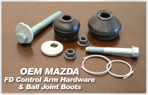 FD RX7 Control Arm Bolts & Ball Joint Boots